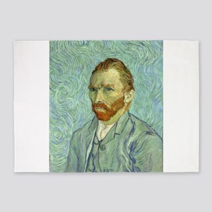 Vincent Van Gogh Self Portrait 5'x7'Area Rug